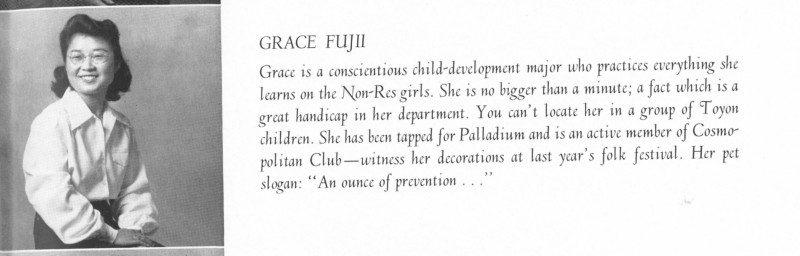 Grace Fuji Senior Picture 1942 Yearbook